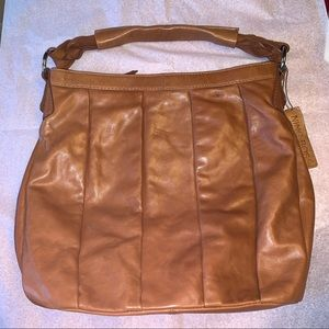 Nino Bossi Large Leather Hobo Shoulder Bag